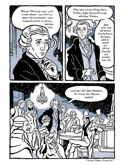 """""""Mythos Beethoven"""" Graphic Novel, Moritz Stetter, im Knesebeck Verlag"""