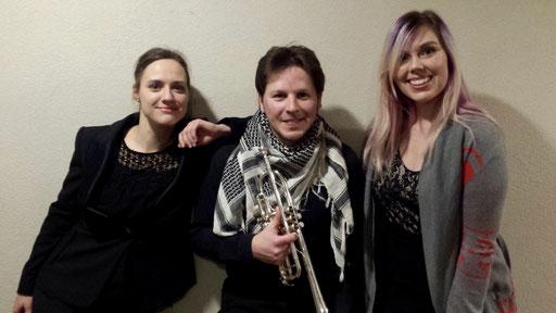avec Dina Gilbert et Miss Harvey