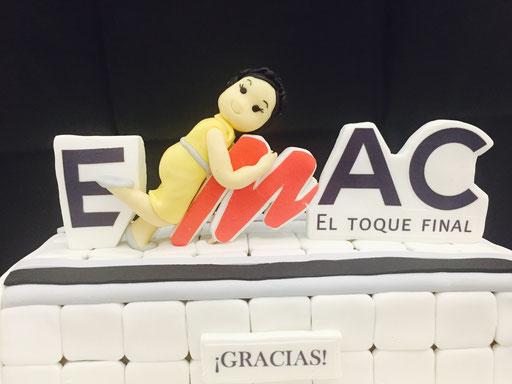 Detalle Tarta EMAC, tarta corporativa de Dulce Dorotea