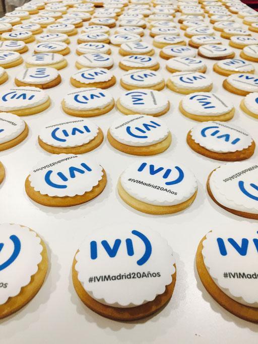 Detalle galletas corporativas IVI, foto I