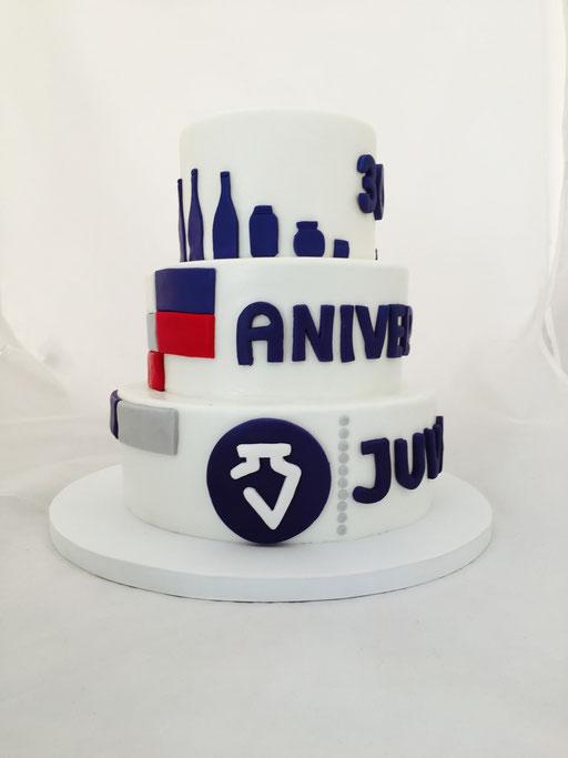 Tarta corporativa aniversario JUVASA, foto II