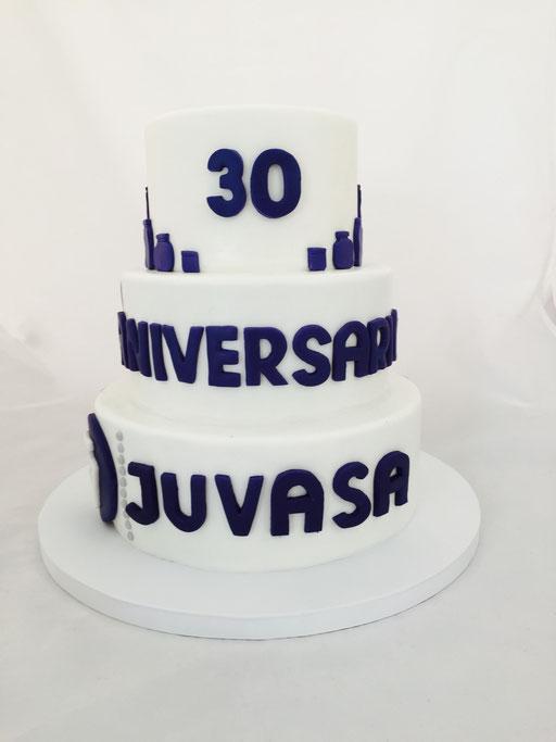 Tarta corporativa aniversario JUVASA, foto I