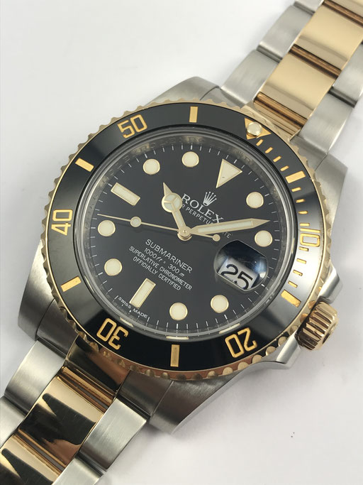 ROLEX SUBMARINER REF 116613 LN FULL SET VON 2013