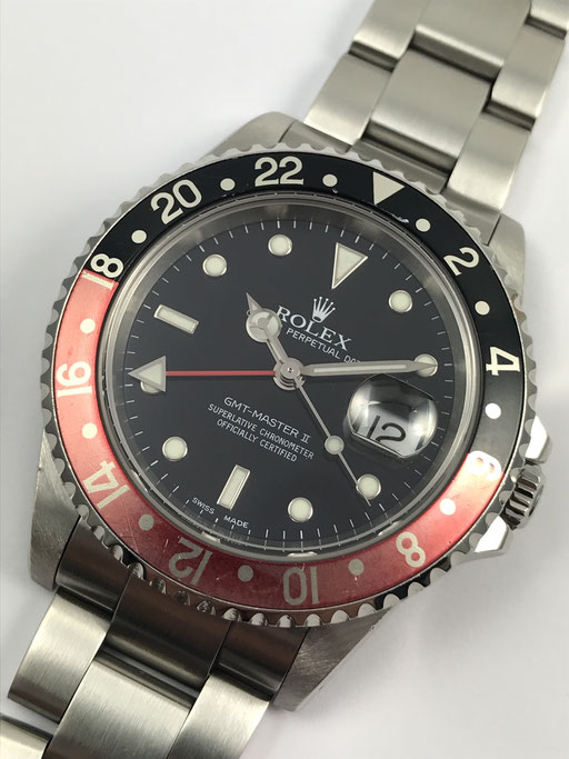 "VINTAGE ROLEX GMT MASTER 2 ""FADED"" REF: 16710 FULL SET VON 2002 K-SERIE"