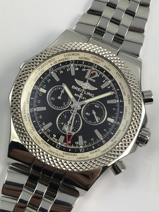 BREITLING FOR BENTLEY GMT REF: A47362 BOX & PAPIERE AUS 2010