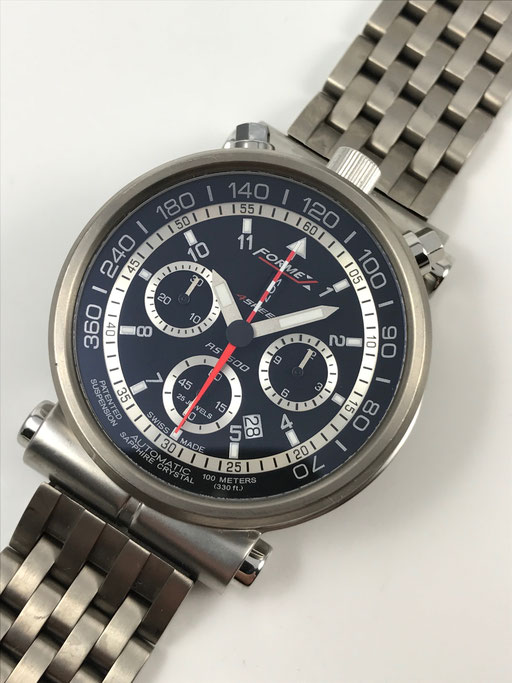46MM FORMEX 4 SPEED BULLHEAD VALJOUX CHRONOGRAPH