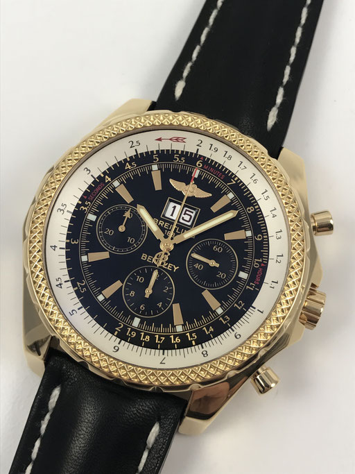 BREITLING FOR BENTLEY 6.75 REF:K44362 750 GOLD CHRONOGRAPH