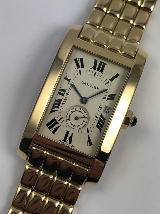 CARTIER TANK AMERICAINE REF: 8012905 IN 750 GOLD
