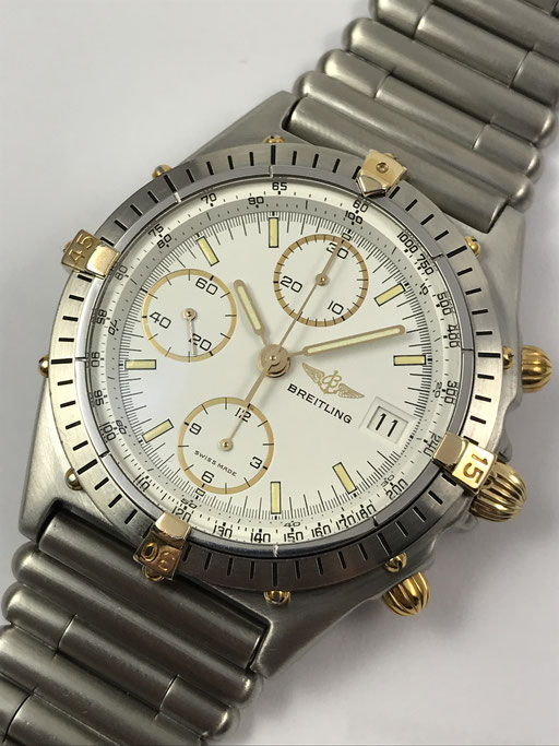 BREITLING CHRONOMAT CHRONOGRAPH REF: 81950 A STAHL/GOLD ROULEAUX BAND