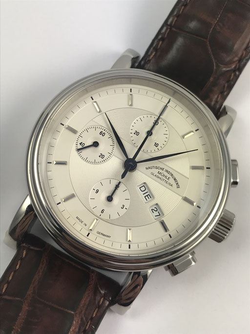 MÜHLE GLASHÜTTE TEUTONIA 2 CHRONOGRAPH REF.: M1-30-90 FULL SET