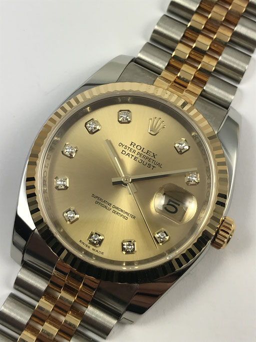ROLEX DATEJUST REF 116233 VON 2006 FULL SET DIAMANTBLATT