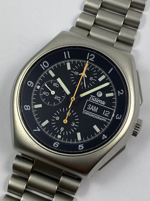 TUTIMA MILITARY CHRONOGRAPH 798-02 VON 2004 - LEMANIA 5100 - REVISION + BOX PAPIERE