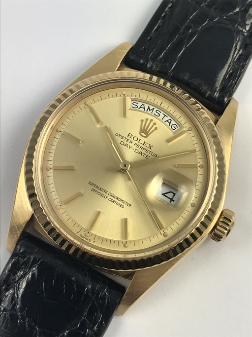 VINTAGE ROLEX DAY DATE REF: 1803 VON CA. 1976 IN 750 GOLD