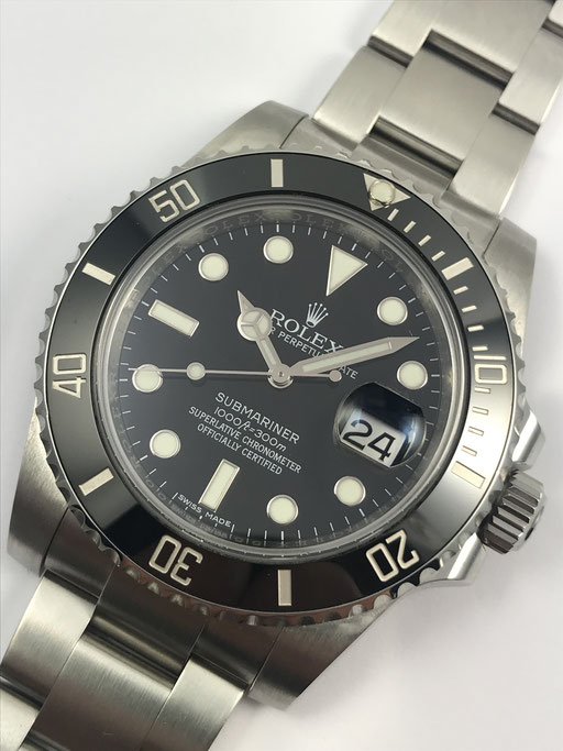 ROLEX SUBMARINER REF 116610 LN FULL SET VON 2015