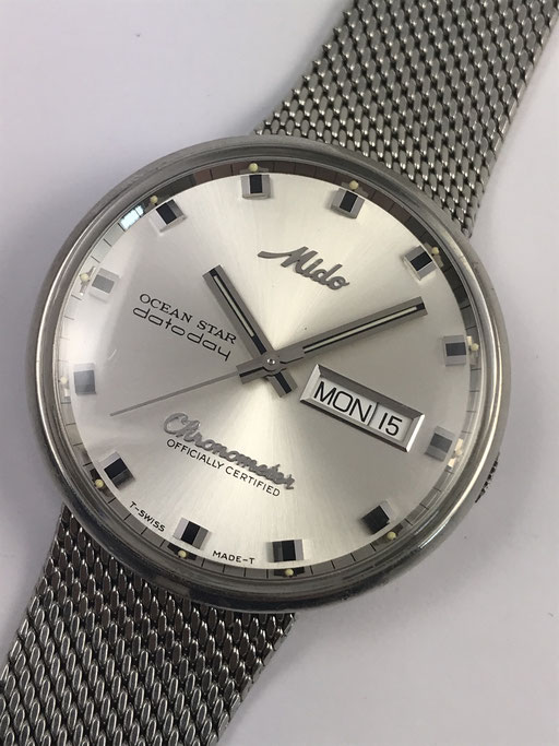 VINTAGE MIDO OCEAN STAR DATODAY AUTOMATIK CHRONOMETER REF: 636-8429 WOHL NEUNZIGER JAHRE