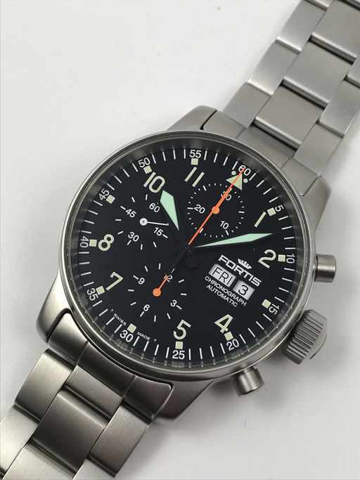 FORTIS FLIEGER CHRONOGRAPH REF: 597.10.11 FULL SET