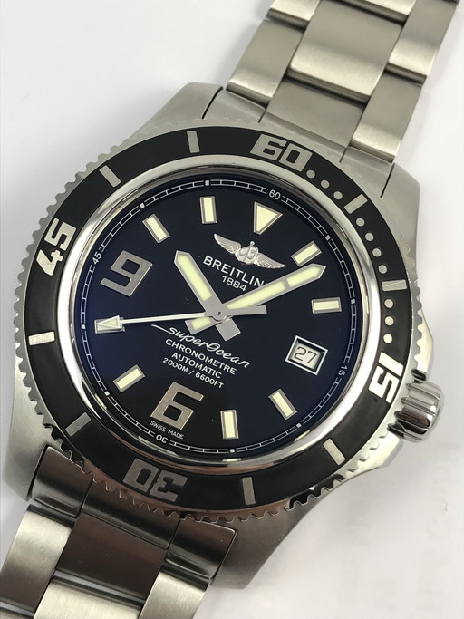 BREITLING SUPEROCEAN 44 CHRONOMETER REF: A1739102/BA77 FULL SET AUS 2014