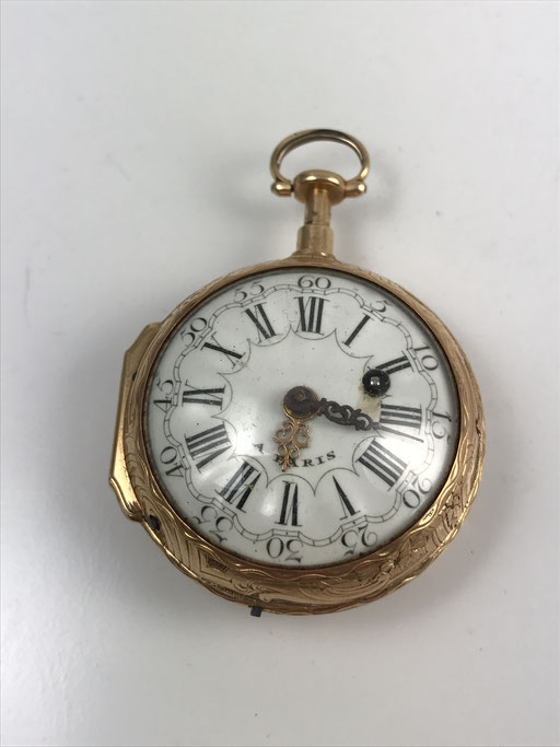 ANTIKE  18K GOLD SPINDELUHR MIT REPETITION VON 1780