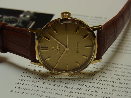 OMEGA SEAMASTER IN 585 GOLD 70ZIGER JAHRE
