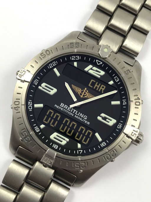 BREITLING AEROSPACE TITAN REF: E65362 FULL SET VON 2003 REPETITION MINUTES