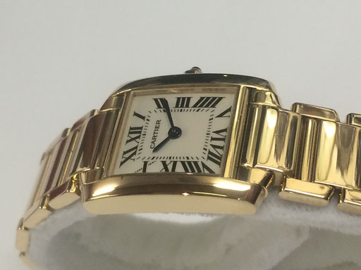 Cartier Tank Francaise in 750/000 Gold