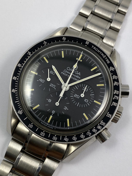 OMEGA SPEEDMASTER MOONWATCH TRITIUM VON 5/2000 FULL SET REF.: 35705000 ODER 145.0022