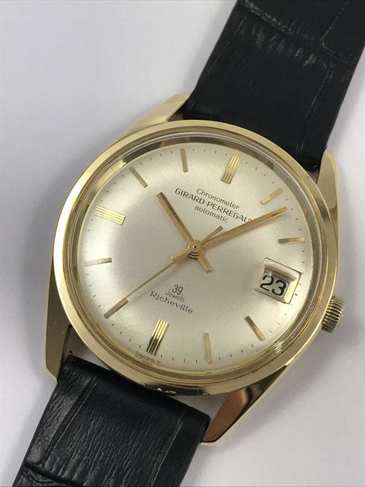 GIRARD-PERREGAUX RICHEVILLE CHRONOMETER REF: 8445 N 750 GOLD VON CA 1965 MIT BOX