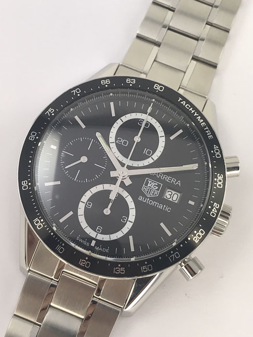 TAG HEUER CARRERA CHRONOGRAPH CALIBRE 16 REF CV2010-3 FULL SET