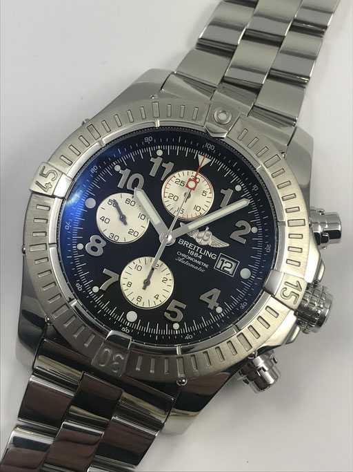 48MM BREITLING SUPER AVENGER CHRONOMETER A13370 FULL SET AUS 10/2007