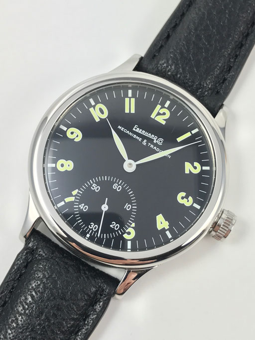 EBERHARD & CO TRAVERSETOLO 43MM REF: 21016 CP HANDAUFZUG