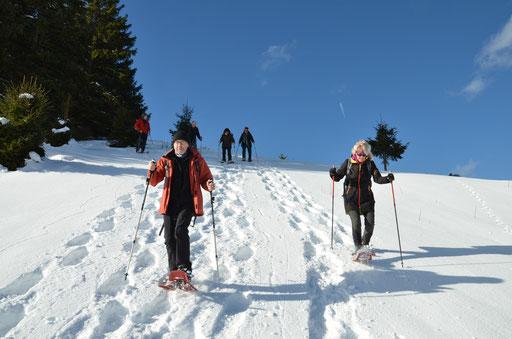 Mit dem Gastwirt auf Schneeschuh - Tour