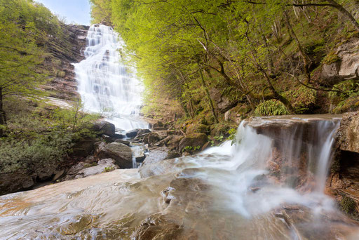 Acquacetta-Wasserfall - Nationalpark Casentino-Italien