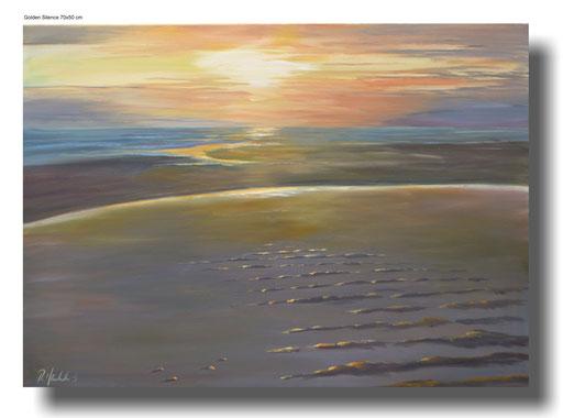 Golden Silence, 70 x 50 cm