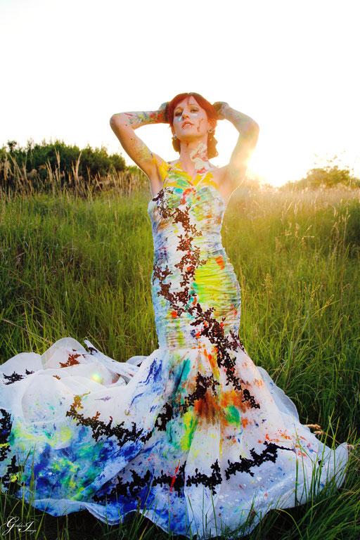 Trash the Dress - Das Brautkleid mit Farbe bespritzt