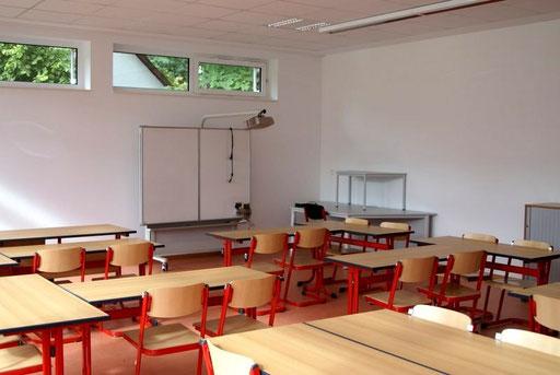 Klassenraum im Erweiterungsbau