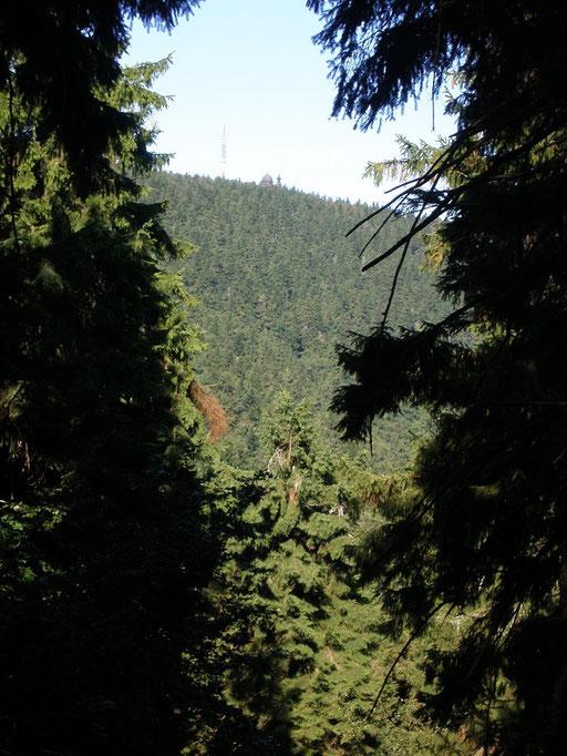 Ein Blick auf Radhošť - ganz hinten auf dem Berg