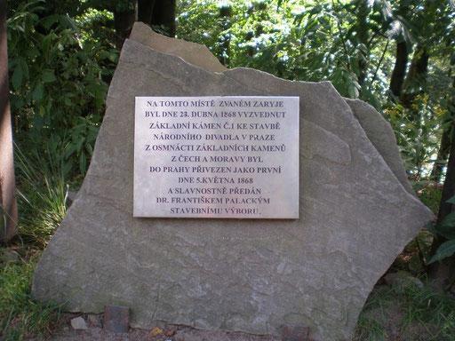 Hier wurde Grundstein für das National Theater in Prag im Jahr 1868 entnomen