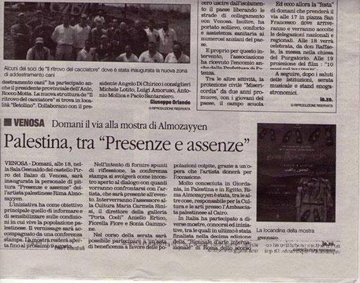 Il Quotidiano della Basilicata, 1 agosto 2014