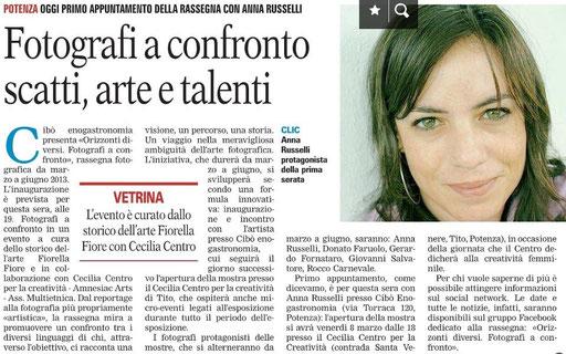 La Gazzetta del Mezzogiorno, 5 marzo 2013