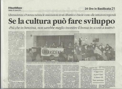 Il Quotidiano della Basilicata, 24 marzo 2012