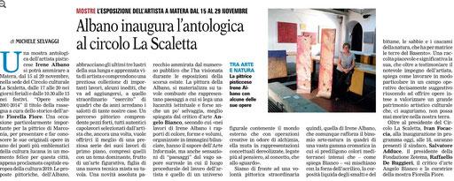 La Gazzetta del Mezzogiorno 15 novembre 2014