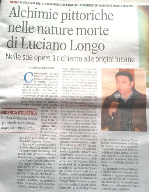 La Gazzetta del Mezzogiorno, 12 maggio 2013