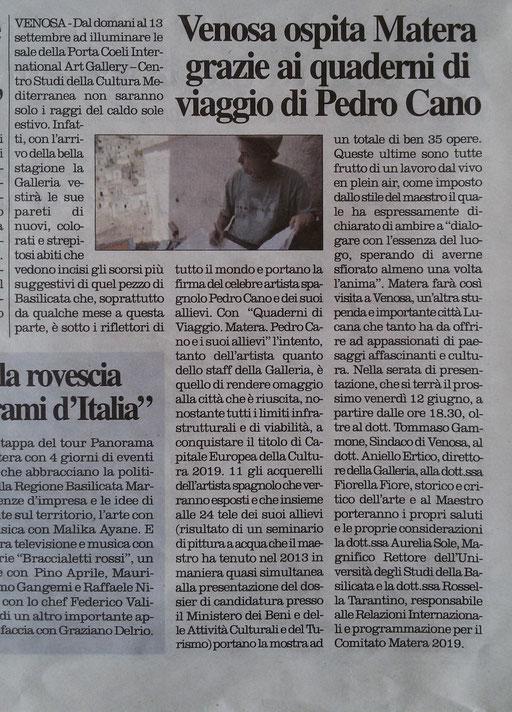 Il Quotidiano della Basilicata, 11 giugno 2015