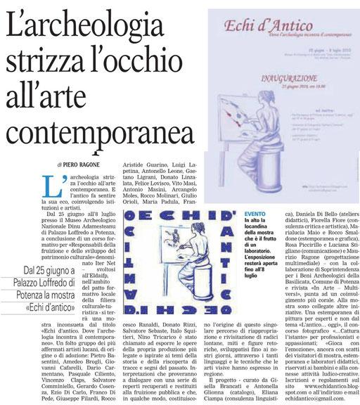 Gazzetta del Mezzogiorno, 23 giugno 2010