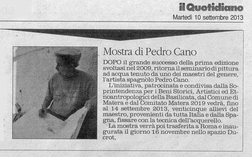 Il Quotidiano della Basilicata, 10 settembre 2013