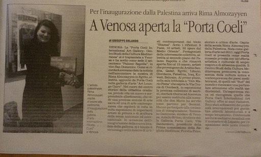 Il Quotidiano della Basilicata 25 febbraio 2015