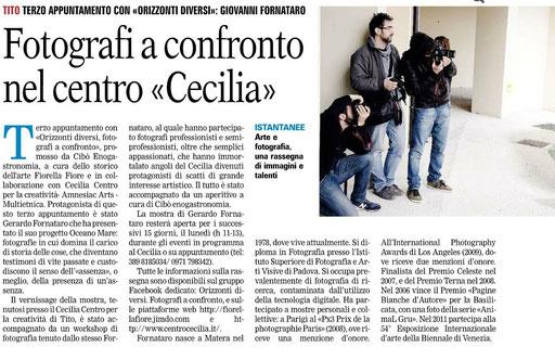 La Gazzetta del Mezzogiorno, 20 aprile 2013