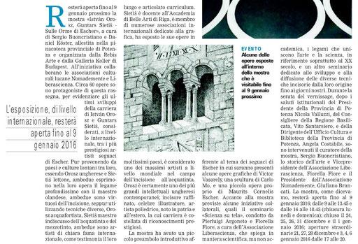 Gazzetta del Mezzogiorno, 8 dicembre 2015
