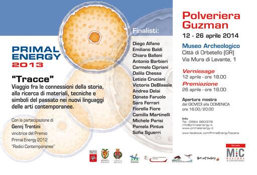 """Primal Energy presenta """"Tracce"""", i finalisti della terza edizione del Premio internazionale d'arte contemporanea in mostra alla Guzman di Orbetello dal 12 al 26 aprile, articolo su La Provincia di Grosseto del 10 aprile 2014"""