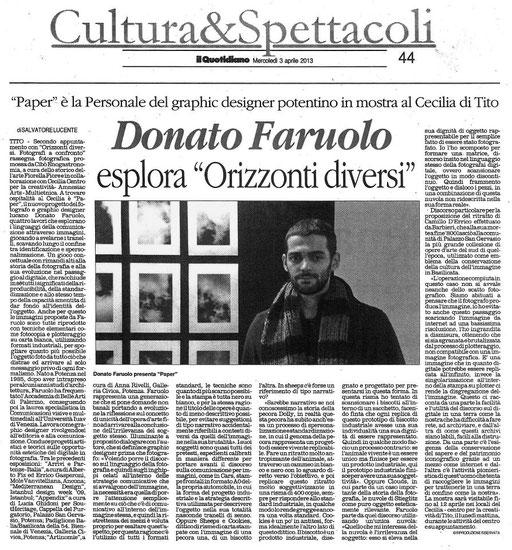 Il Quotidiano della Basilicata, 3 aprile 2013